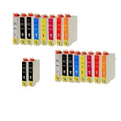 Compatible Multipack Epson T0870/879 2 Full Sets + 2 FREE Black Inkjet Printer Cartridges