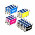 999inks Compatible Multipack Epson T0551 3 Full Sets + 3 FREE Black Inkjet Printer Cartridges