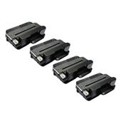 Compatible Quad Pack Xerox 106R02313 Black Extra High Capacity Laser Toner Cartridges