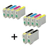 999inks Compatible Multipack Epson T1301 2 Full Sets + 2 FREE BLACK Full Set Inkjet Printer Cartridges