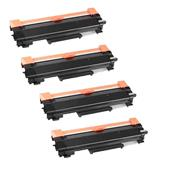 999inks Compatible Quad Pack Brother TN2220XL Black Extra High Capacity Toner Cartridges