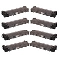 Compatible Eight Pack Brother TN2310 Black Laser Toner Cartridges