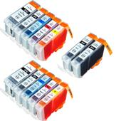 Compatible Multipack Canon BCI-3eK And BCI-6K/C/M/Y 2 Full Sets + 2 FREE Black Inkjet Printer Cartridges