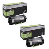 Lexmark 62D2H0E Black Original High Capacity Return Program Laser Toner Cartridge Twin Pack
