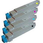 Compatible Multipack Oki 438371 1 Full Set Laser Toner Cartridges