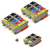 Compatible Multipack Epson T2621 2 Full Sets + 2 FREE Black Inkjet Printer Cartridges