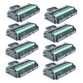 Compatible Eight Pack Ricoh 407254 Black High Capacity Laser Toner Cartridges