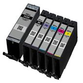 999inks Compatible Multipack Canon PGI-580PGBKXXL and CLI-581BK/C/M/Y/PBXXL 1 Full Set Inkjet Printer Cartridges