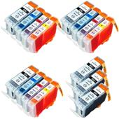 999inks Compatible Multipack Canon BCI-3eK/C/M/Y 3 Full Sets + 3 FREE Black Inkjet Printer Cartridges