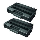 Compatible Twin Pack Ricoh 406990 Black High Capacity Laser Toner Cartridges