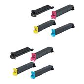 999inks Compatible Multipack Konica Minolta TN613K/Y 2 Full Sets Laser Toner Cartridges