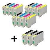 999inks Compatible Multipack Epson T1301 3 Full Sets + 3 FREE BLACK Full Set Inkjet Printer Cartridges