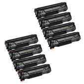 999inks Compatible Eight Pack Canon 726 Black Laser Toner Cartridges