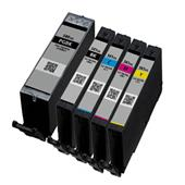 999inks Compatible Multipack Canon PGI-580PGBKXXL and CLI-581BK/C/M/Y (XXL) 1 Full Set Inkjet Printer Cartridges