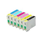 999inks Compatible Multipack Epson T0481 1 Full Set Inkjet Printer Cartridges