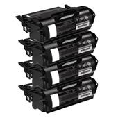 999inks Compatible Quad Pack Dell 593-11049 Black High Capacity Laser Toner Cartridges