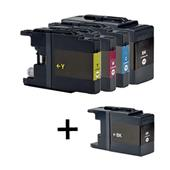 999inks Compatible Multipack Brother LC1240 1 Full Set + 1 FREE Black Set Inkjet Printer Cartridges