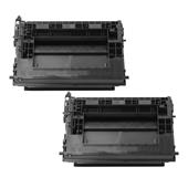 999inks Compatible Twin Pack HP 37X Black High Capacity Laser Toner Cartridges