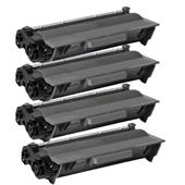 Compatible Quad Pack Brother TN3380 Black Laser Toner Cartridges