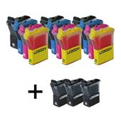 999inks Compatible Multipack Brother LC600 3 Full Sets + 3 FREE Black Inkjet Printer Cartridges