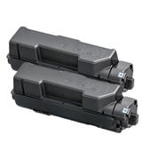 Compatible Twin Pack Kyocera TK-1170 Black Laser Toner Cartridges
