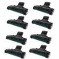 Compatible Eight Pack Samsung ML-2010D3 Black Laser Toner Cartridges