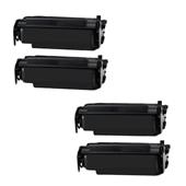 999inks Compatible Quad Pack Lexmark 12A4715 Black High Capacity Laser Toner Cartridges