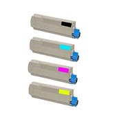 Compatible Multipack OKI 41963605/08 1 Full Set Laser Toner Cartridges