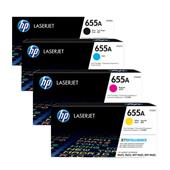 HP 655A/CF450A Full Set Original Standard Capacity Laser Toner Cartridges