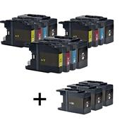 999inks Compatible Multipack Brother LC1280 3 Full Sets + 3 FREE Black Inkjet Printer Cartridges
