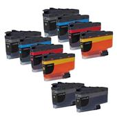 Compatible Multipack Brother LC3235XL 2 Full Sets + 2 FREE Black Inkjet Printer Cartridges
