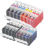 999inks Compatible Multipack Canon BCI-6BK/C/M/Y/R/PC/PM 2 Full Sets + 2 FREE Black Inkjet Printer Cartridges