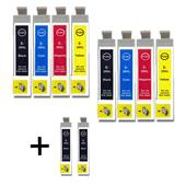 999inks Compatible Multipack Epson T2991/94 2 Full Sets + 2 FREE Black Inkjet Printer Cartridges