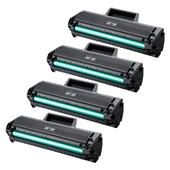 999inks Compatible Quad Pack Samsung MLT-D1042S Black Laser Toner Cartridges