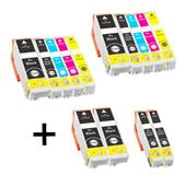 Compatible Multipack Epson T3351 2 Full Sets + 2 FREE Black Inkjet Printer Cartridges
