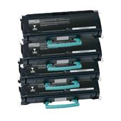 Compatible Quad Pack Lexmark X463X11G Black Extra High Capacity Laser Toner Cartridges