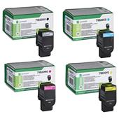 Lexmark 71B20K0/Y0 Full Set Original Laser Toner Cartridges