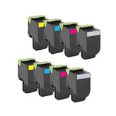 Compatible Multipack Lexmark 80C2XKE/YE 2 Full Sets Laser Toner Cartridges