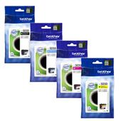 Brother LC3233BK/Y Full Set Original Standard Capacity Inkjet Printer Cartridges