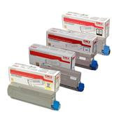 OKI 46507505-08 Full Set Original Laser Toner Cartridges