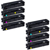 999inks Compatible Multipack Canon 045HBK/C/M/Y 2 Full Sets Laser Toner Cartridges