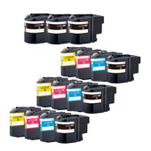 Compatible Multipack Brother LC22U 3 Full Sets + 3 Free Black Inkjet Printer Cartridges
