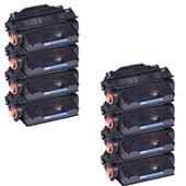 999inks Compatible Eight Pack HP 26X Black Laser Toner Cartridges