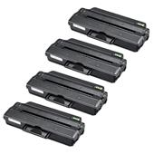 999inks Compatible Quad Pack Samsung MLT-D103L Black High Capacity Laser Toner Cartridges