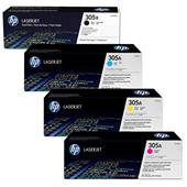 HP 305X/305A Full Set Original Laser Toner Cartridges