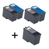 999inks Compatible MultiPack Dell Series 5 2 Full Sets + 1 Extra Black Inkjet Printer Cartridges
