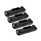 999inks Compatible Quad Pack HP 79X Black High Capacity Laser Toner Cartridges