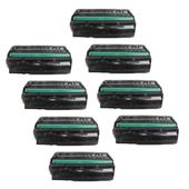 Compatible Eight Pack Ricoh 407249 Black Standard Capacity Laser Toner Cartridges