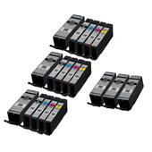 999inks Compatible Multipack Canon PGI-580PGBKXXL and CLI-581BK/C/M/Y (XXL) 3 Full Sets + 3 FREE Black Inkjet Printer Cartridges