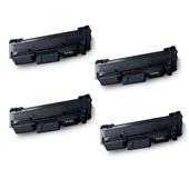 Compatible Quad Pack Samsung MLT-D116S Black Laser Toner Cartridges